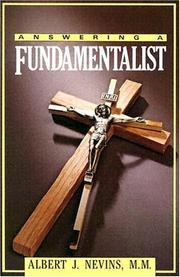 Cover of: Answering a fundamentalist | Albert J. Nevins