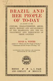 Cover of: Brazil and her people of to-day | Nevin O. Winter