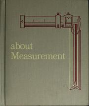 Cover of: About measurement. | Margaret Friskey
