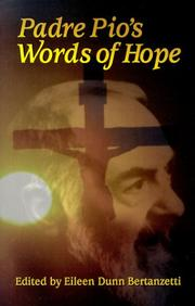 Cover of: Padre Pio's words of hope
