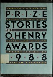 Cover of: Prize Stories 1988 by William Abrahams