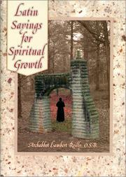 Cover of: Latin sayings for spiritual growth | Lambert Reilly