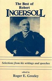 Cover of: Best of Robert Ingersoll