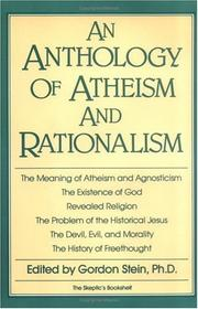 Cover of: An Anthology of Atheism and Rationalism