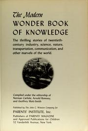 Cover of: The Modern wonder book of knowledge |