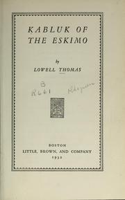 Cover of: Kabluk of the Eskimo