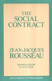 Cover of: Social Contract (Great Books in Philosophy) | Jean-Jacques Rousseau