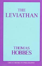 Cover of: Leviathan (Great Books in Philosophy)