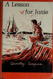 Cover of: A lesson for Janie | Simpson, Dorothy