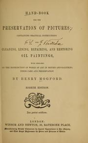 Cover of: Hand-book for the preservation of pictures | Henry Mogford