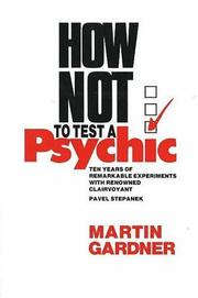 Cover of: How not to test a psychic