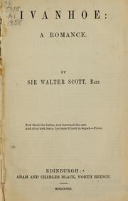 Cover of: Ivanhoe; a romance | Sir Walter Scott