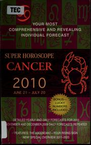 Super horoscope Cancer, 2010