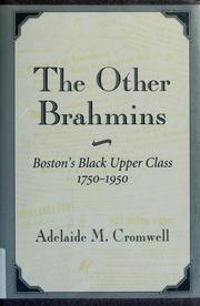 Cover of: The other Brahmins | Adelaide M. Cromwell