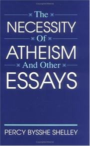 Cover of: The necessity of atheism, and other essays