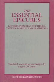 Cover of: The essential Epicurus
