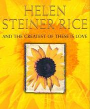 Cover of: And the greatest of these is love: poems and promises