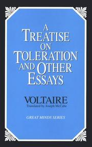 Cover of: A treatise on toleration and other essays | Voltaire