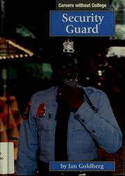 Cover of: Security guard | Jan Goldberg