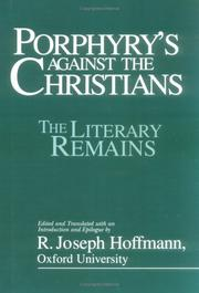 Cover of: Porphyry's Against the Christians