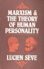 Cover of: Marxism and the theory of human personality
