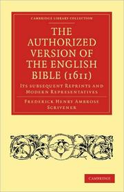 Cover of: The Authorized version of the English Bible (1611)