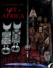 Cover of: A history of art in Africa