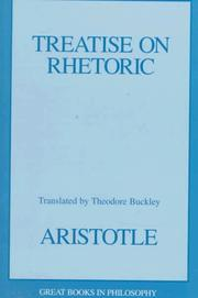 Cover of: Treatise on rhetoric | Aristotle