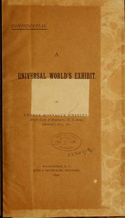 Cover of: A universal world