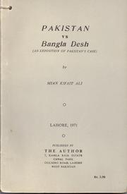 Cover of: Pakistan vs. Bangla Desh