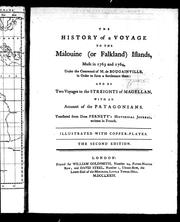 Cover of: The history of a voyage to the Malouine (or Falkland) Islands | Antoine Joseph Pernety