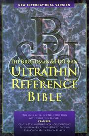 Cover of: NIV UltraThin Reference Bible (Black) |