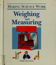 Cover of: Weighing and measuring | Terry Jennings