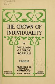 Cover of: The crown of individuality by Jordan, William George
