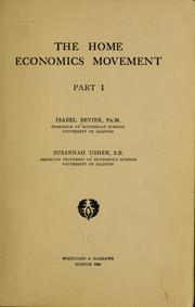 Cover of: The home economics movement | Isabel Bevier