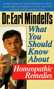 Cover of: Dr. Earl Mindell