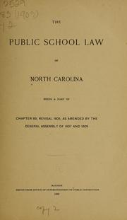 Cover of: The public school law of North Carolina | North Carolina