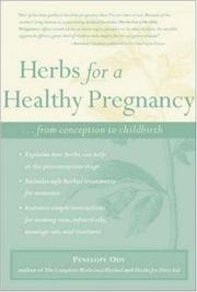 Cover of: Herbs for A Healthy Pregnancy