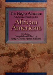 Cover of: The Negro Almanac | Harry A. Ploski, Williams, James D.