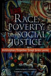 Cover of: Race, poverty, and social justice | JosГ© Z. CalderГіn