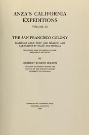 Cover of: Anza's California expeditions, Vol. 4