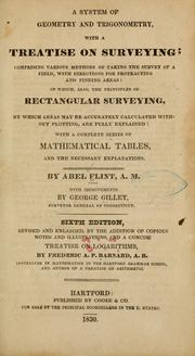 Cover of: A system of geometry and trigonometry | Abel Flint