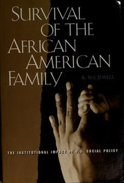 Survival of the African American family by K. Sue Jewell
