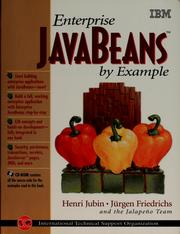 Cover of: Enterprise JavaBeans by example | Henri Jubin