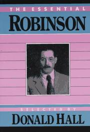Cover of: The essential Robinson
