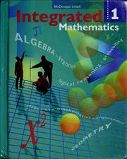 Cover of: Integrated mathematics | Rheta Norma Pollock Rubenstein