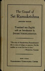 Cover of: The gospel of Sri Ramakrishna by Ramakrishna