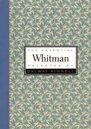 Essential Whitman (Essential Poets)