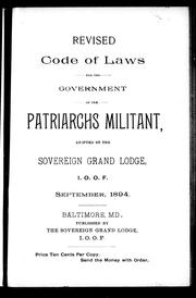 Revised code of laws for the government of the Patriarchs Militant