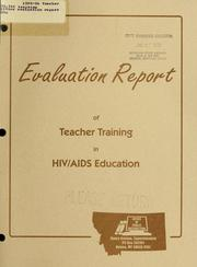 Cover of: 1995-96 Teacher training evaluation report | HIV/STD Education Program (Mont.)